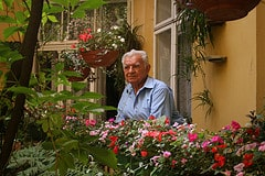 Assisted Living Facility Showing Man in Garden