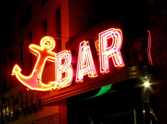 Bar business sign