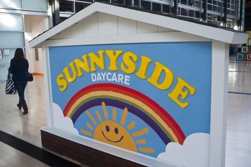 Daycare pedestal sign